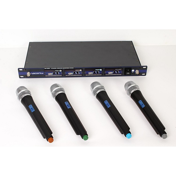 VocoPro UHF-5800 Plus 4-Mic Wireless System with Mic Bag Band 4 888365903347