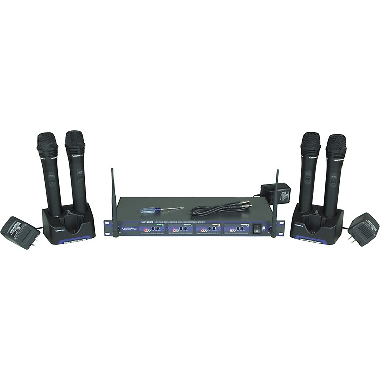 VocoPro UHF-5805 Rechargeable Wireless Microphone System Band 4 Q, R, S, T