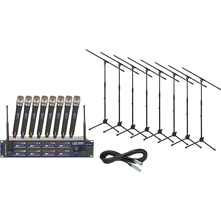 VocoPro UHF-8800 8-Channel Wireless Package