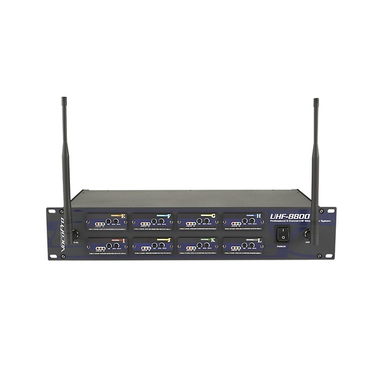 VocoPro UHF-8800 II 8-Channel UHF Wireless Microphone System