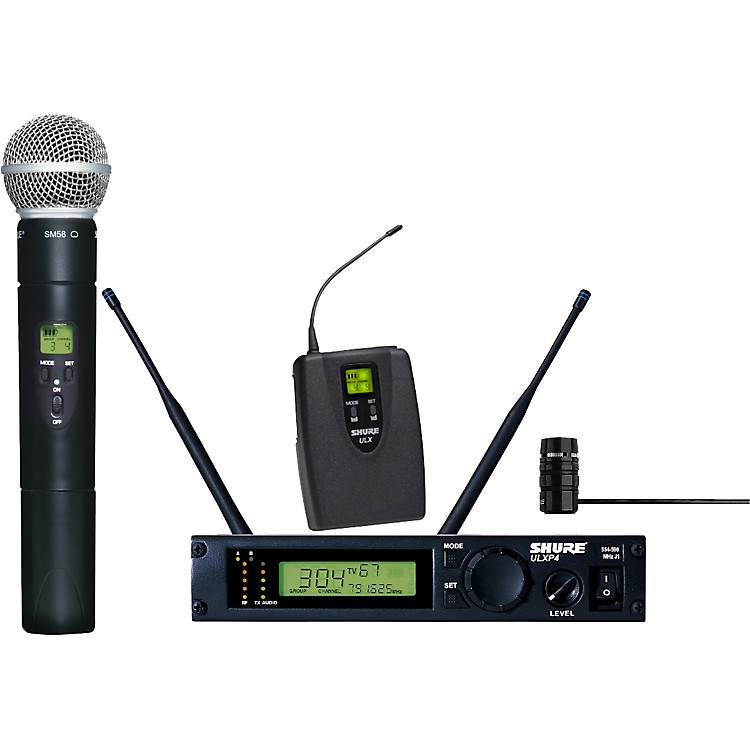 Shure ULXP124/85 Combo Handheld/Lavalier Wireless Microphone System