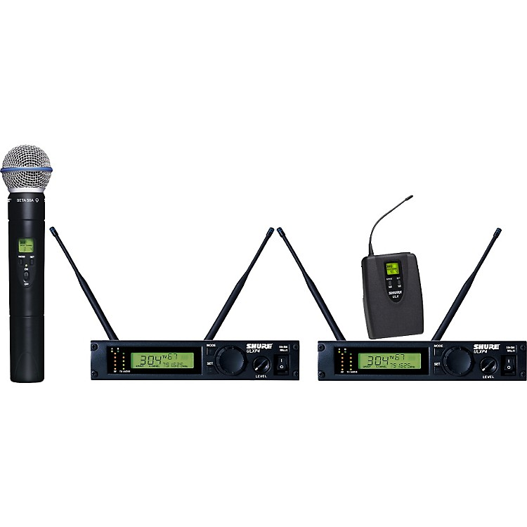 Shure ULXP124/BETA58A Dual Channel Mixed Wireless System J1