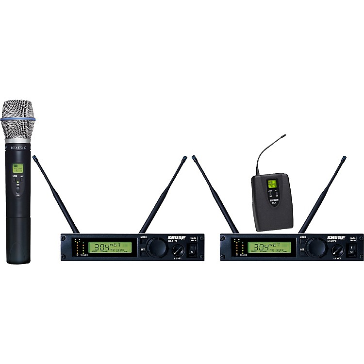 Shure ULXP124/BETA87C Dual Channel Mixed Wireless System M1