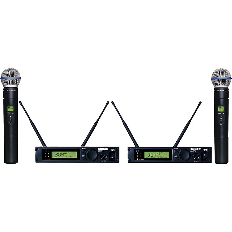Shure ULXP24D/BETA58 Dual Handheld Wireless Microphone System J1