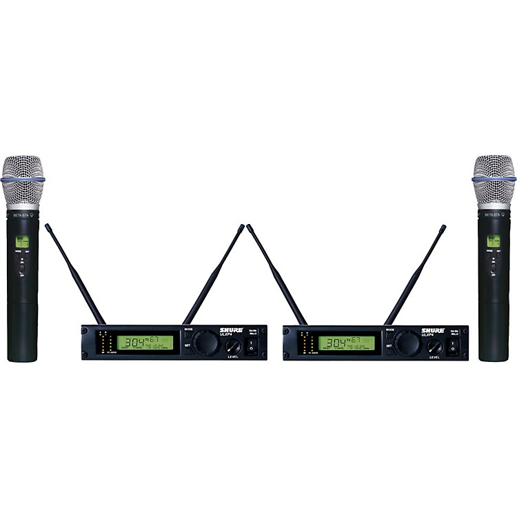 Shure ULXP24D/BETA87A Dual Handheld Wireless Microphone System