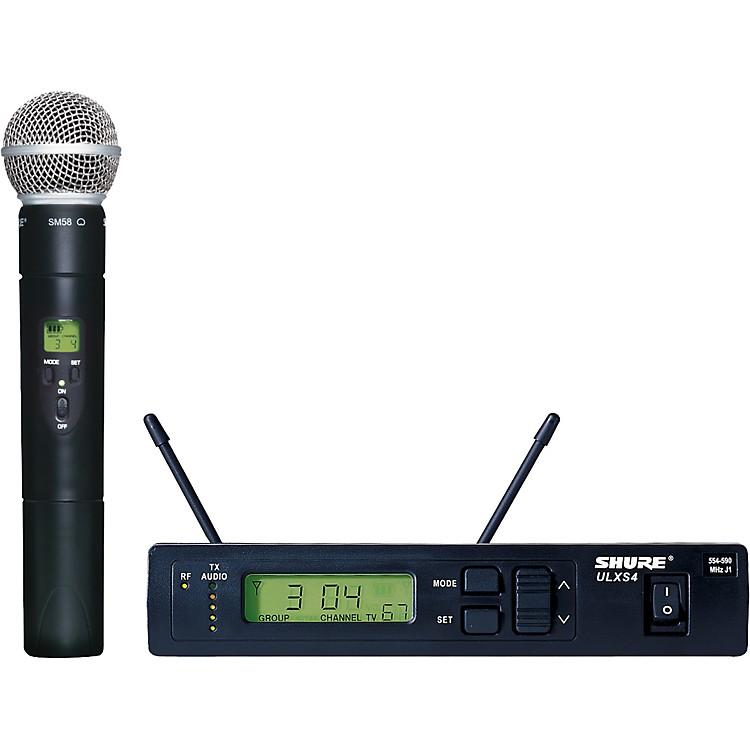 Shure ULXS24/58 Handheld Wireless Microphone System J1