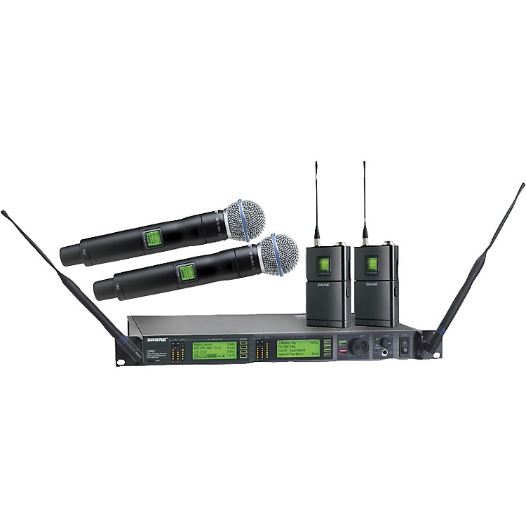 Shure UR124D/BETA58 Dual Bodypack Handheld Wireless Microphone System