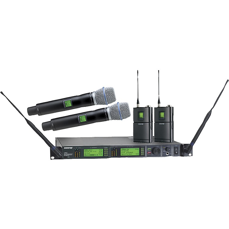 Shure UR124D/BETA87C Dual Bodypack Handheld Wireless Microphone System