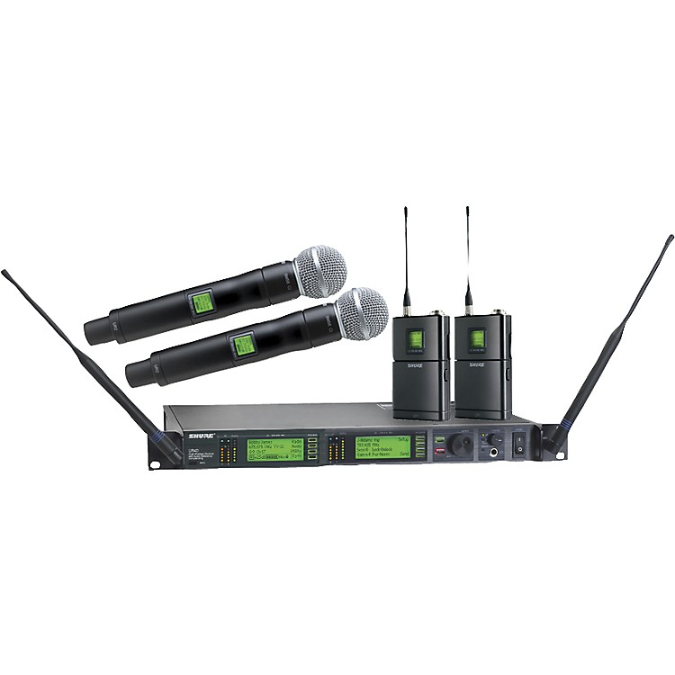 Shure UR124D/SM58 Dual Wireless Instrument/Microphone System J5