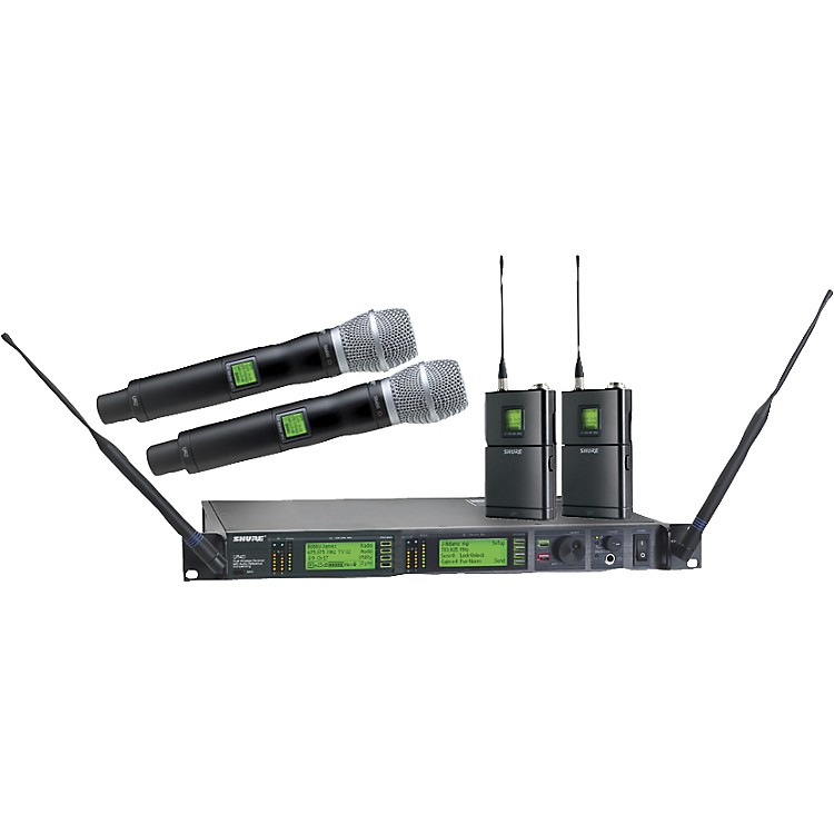 ShureUR124D/SM86 Dual Bodypack and Handheld Wireless Microphone System