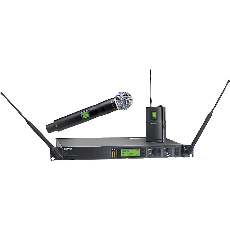 ShureUR124S/BETA58 Combo Wireless Instrument/Microphone System