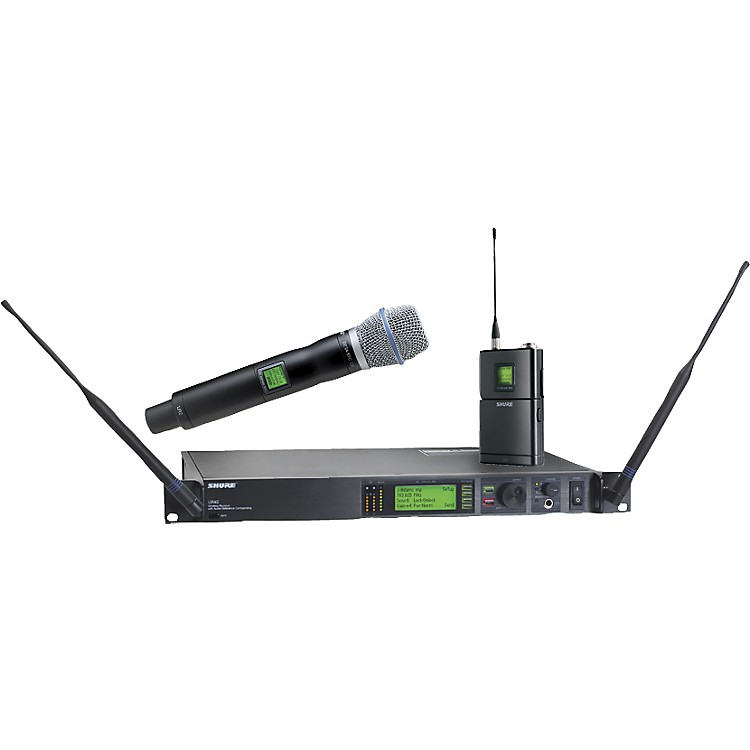 ShureUR124S/BETA87C Combo Wireless Instrument/Microphone System