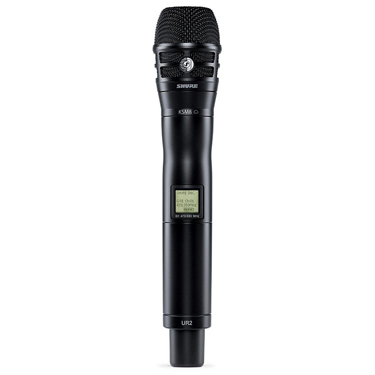 Shure UR2/K8B Handheld Transmitter with KSM8 Capsule in Black Band J5