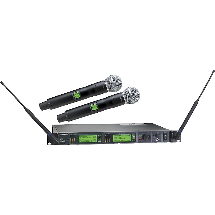 Shure UR24D/SM58 Dual Handheld Wireless Microphone System L3