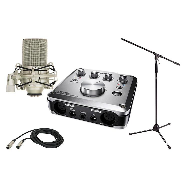 Tascam US-322 MXL 990 Package 2