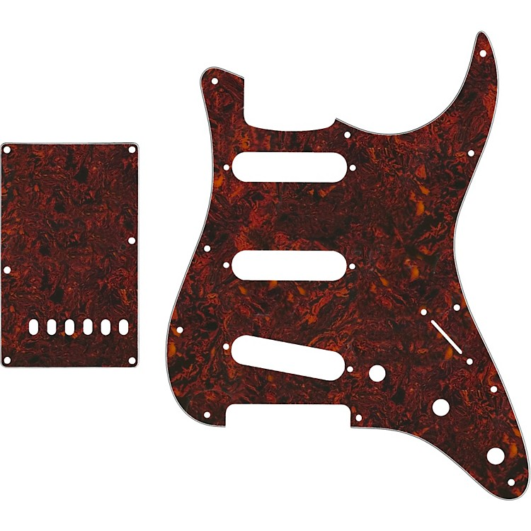 ProLine US Strat Pickguard SSS with Back Plate Tortoise