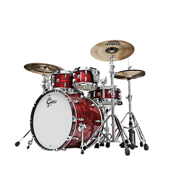 Gretsch Drums USA Brooklyn Series 4-Piece Shell Pack Ruby Red Oyster