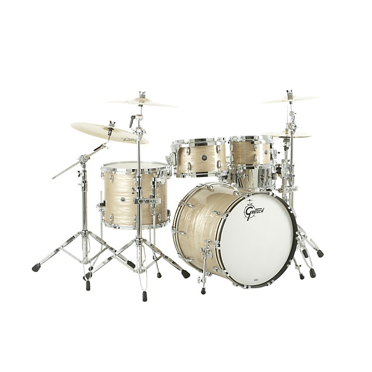 Gretsch Drums USA Brooklyn Series 4-Piece Shell Pack Vintage Cream Oyster