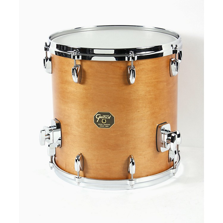 Gretsch Drums USA Custom Floor Tom Drum Satin Classic Maple 14 x 14 in.