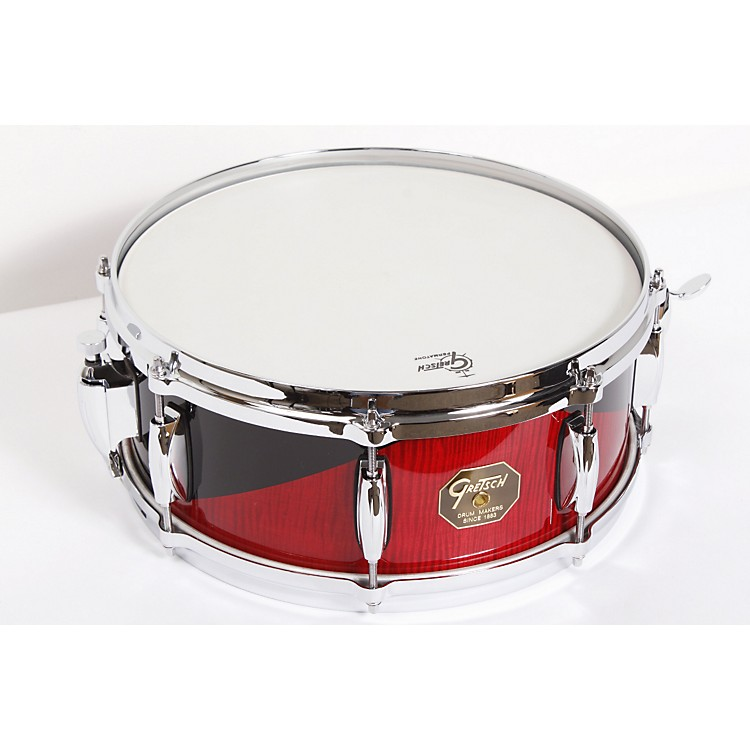 Gretsch Drums USA Custom Harlequin Finish Snare Drum Gloss Harlequin Curly Rosewood 5.5x14