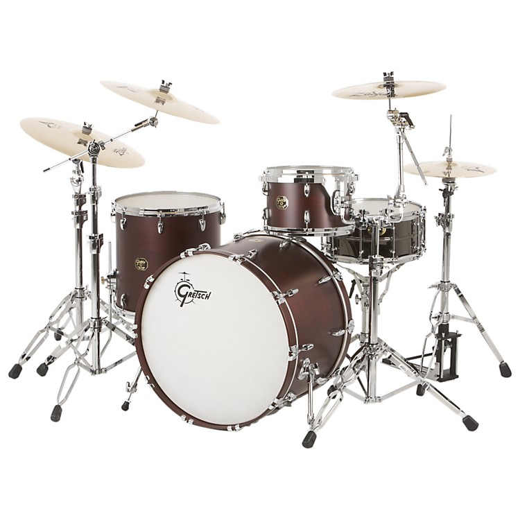 Gretsch Drums USA Custom QD 3-Piece Rock Drum Shell Pack Satin Walnut