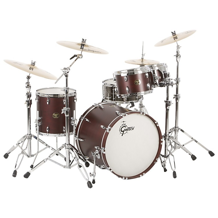 Gretsch Drums USA Custom Quick Delivery 4-Piece Euro Drum Shell Pack Satin Walnut