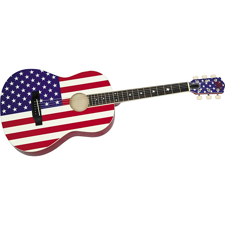rogue usa flag acoustic guitar music123. Black Bedroom Furniture Sets. Home Design Ideas