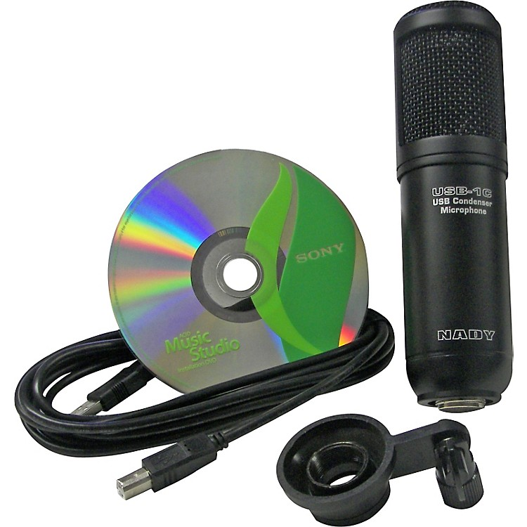 Nady USB-1CMS USB Condenser Microphone with Sony ACID Music Studio