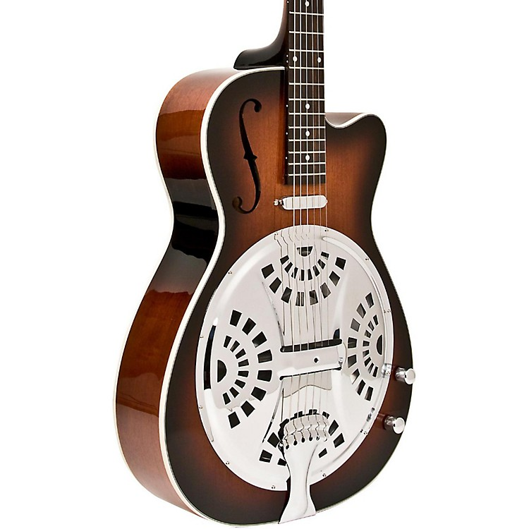 WashburnUSM-R15RCE Resonator Acoustic-Electric GuitarTobacco Sunburst