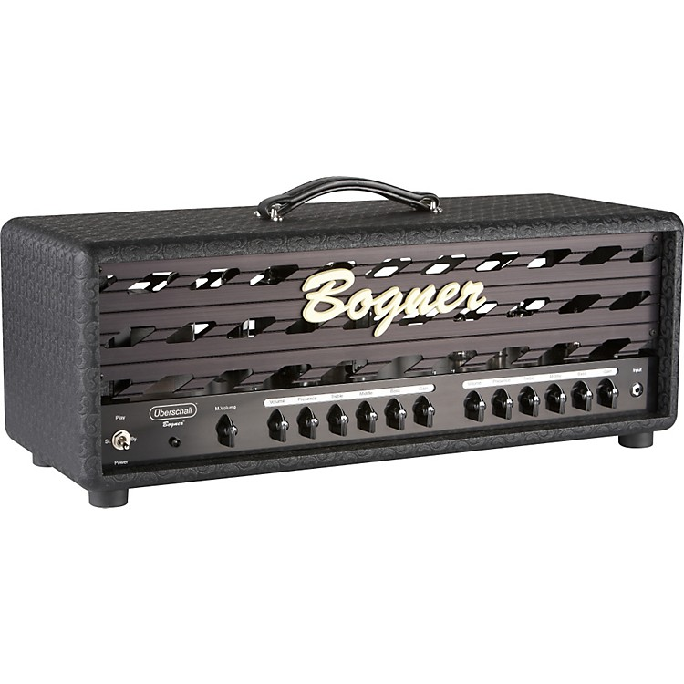 Bogner Uberschall Series 120W Tube Guitar Amp Head with EL34s Black Metal Grill