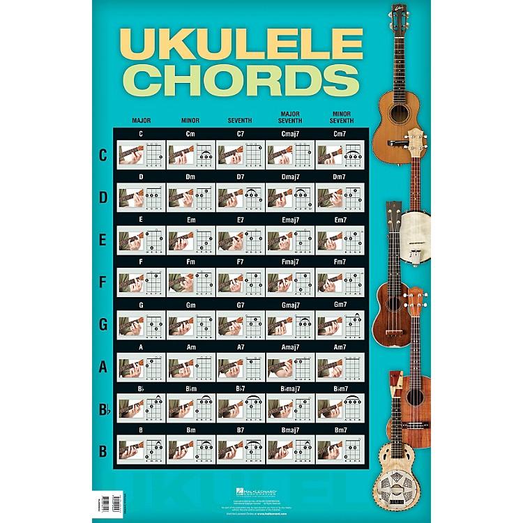 Hal Leonard Ukulele Chords Poster : Music123