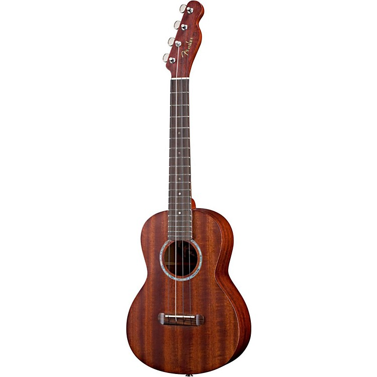 Fender Ukulele Pa ina All-Solid Mahogany Acoustic-Electric Tenor Ukulele