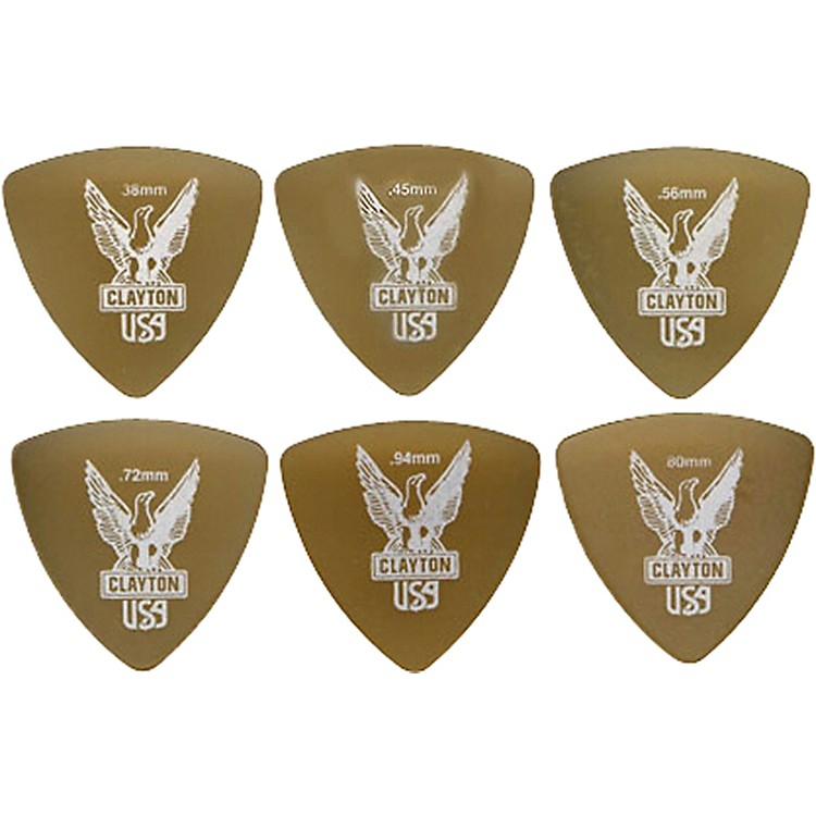 Clayton Ultem Rounded Triangle Guitar Picks