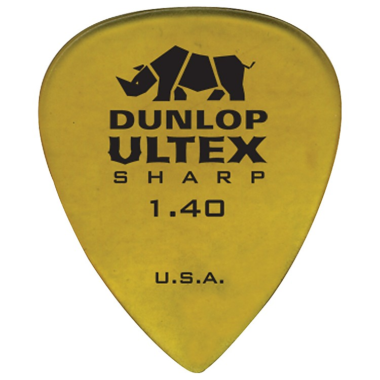 Dunlop Ultex Sharp Picks - 6 Pack 1.4 mm