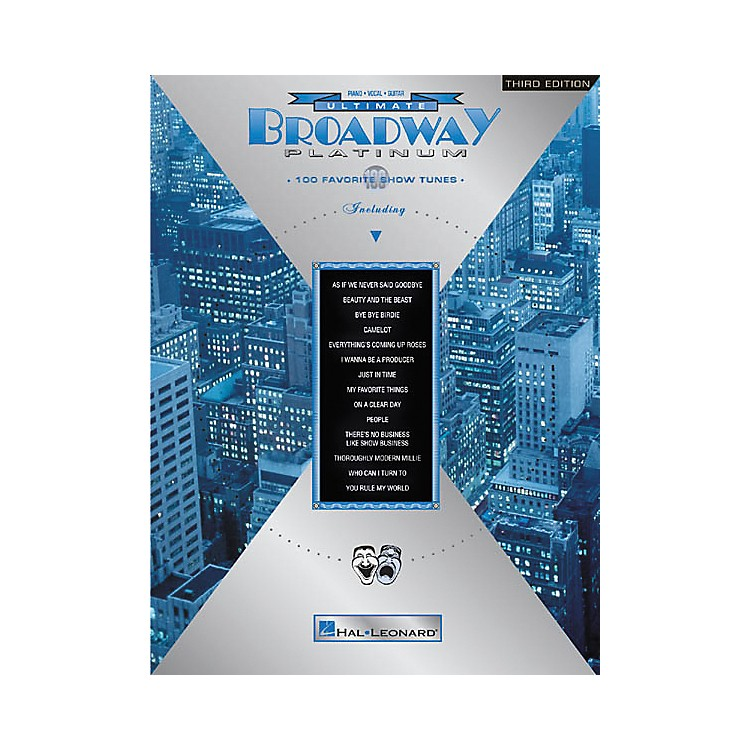 Hal Leonard Ultimate Broadway Platinum 3rd Edition Piano/Vocal/Guitar Songbook