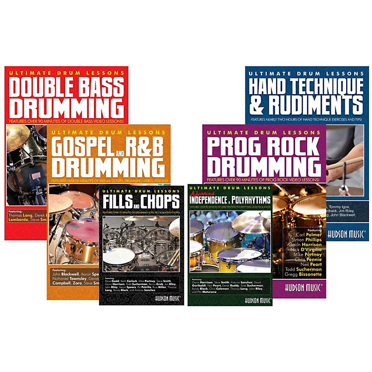 Hudson MusicUltimate Drum Lessons DVD Value Pack