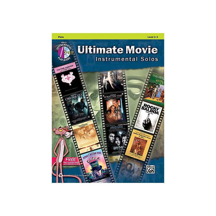 Alfred Ultimate Movie Instrumental Solos for Flute (Book/CD)