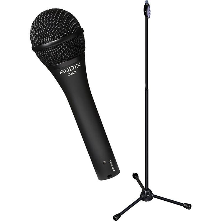 AudixUltimate Support OM-2 Microphone with LIVE-T 1-Hand Height Adjustment Mic Stand Pack