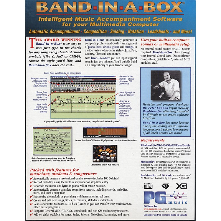 PG Music UltraPAK Band-In-A-Box and RealBand 2009 for Windows Software