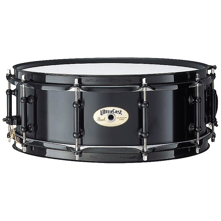Pearl Ultracast Cast Aluminum Snare Drum Black 14 x 5 in.