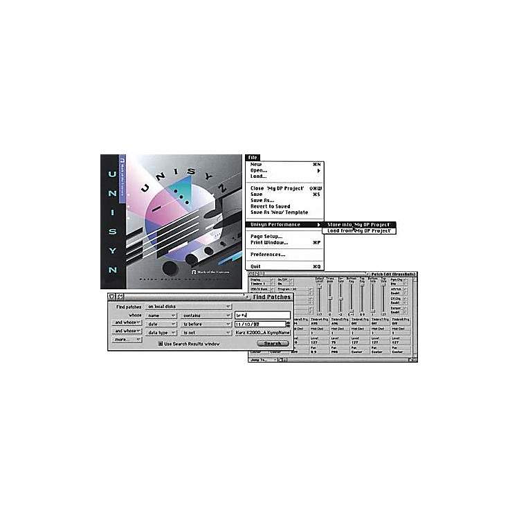 MOTUUnisyn Universal MIDI Device Editor/Librarian 1.5 for Mac