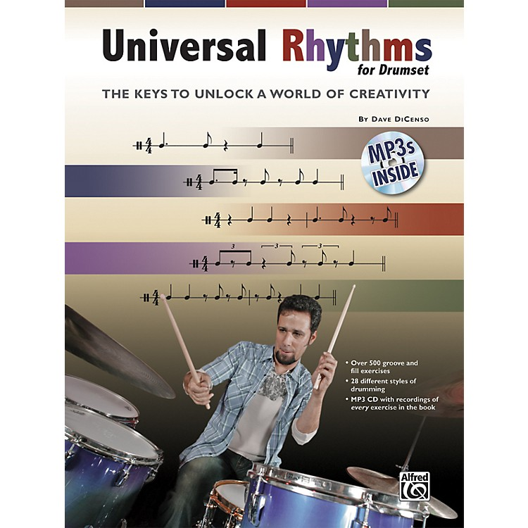 Alfred Universal Rhythms for Drumset: The Keys to Unlock a World of Creativity (Book/CD)