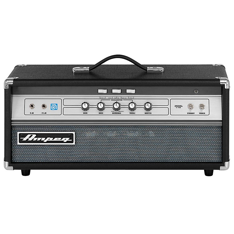 Ampeg V-4B All-Tube 100W  Classic Bass Amp Head Black