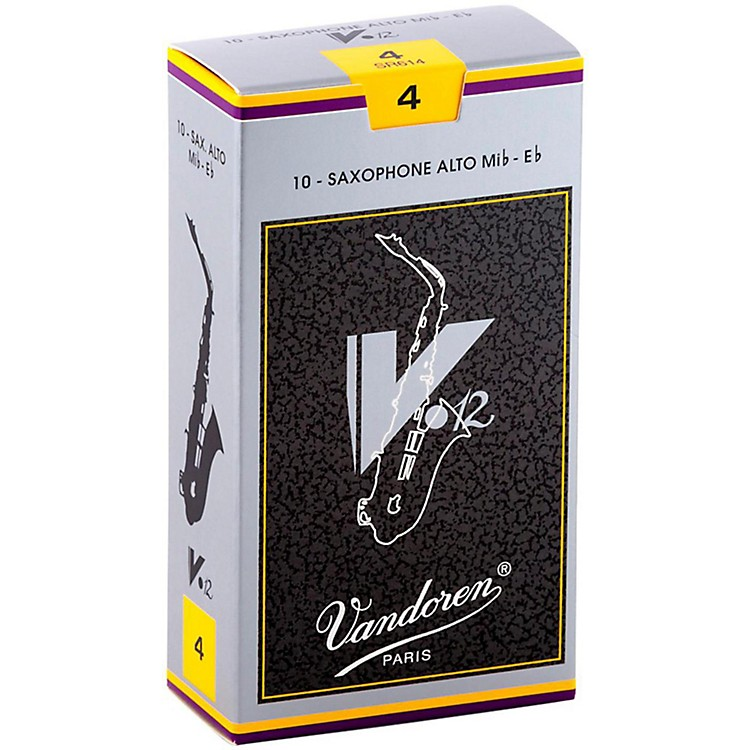 Vandoren V12 Alto Saxophone Reeds Strength 4, Box of 10