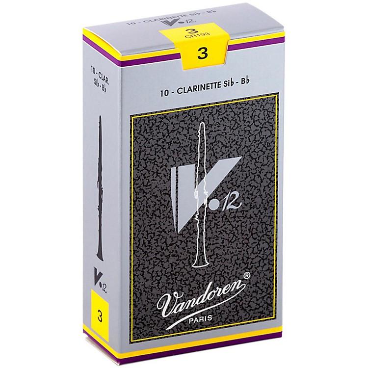 VandorenV12 Bb Clarinet ReedsStrength 3Box of 10