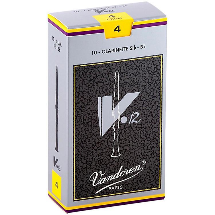 VandorenV12 Bb Clarinet ReedsStrength 4Box of 10