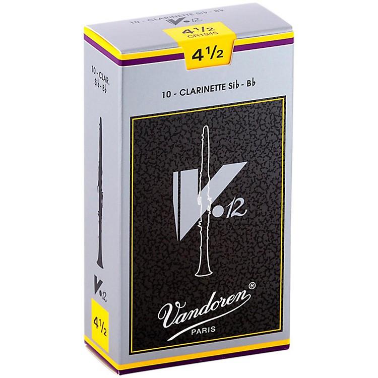 VandorenV12 Bb Clarinet ReedsStrength 4.5Box of 10