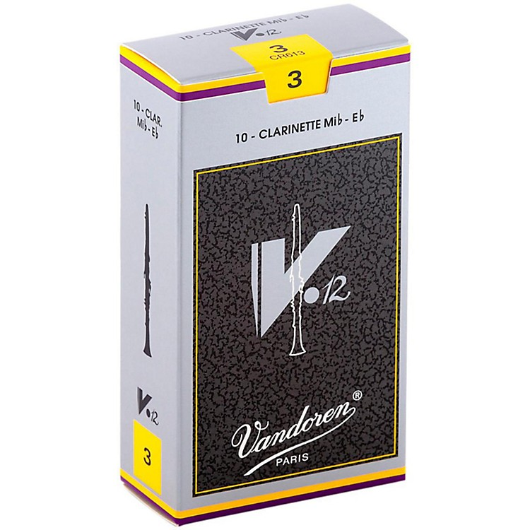 Vandoren V12 Series Eb Clarinet Reeds Strength 3, Box of 10