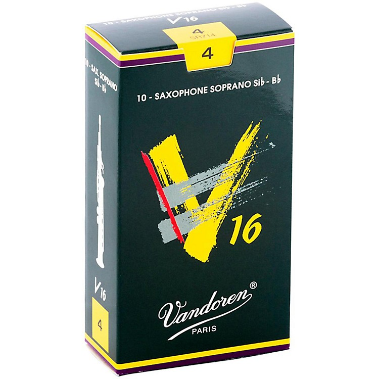 VandorenV16 Soprano Saxophone ReedsStrength 4, Box of 10