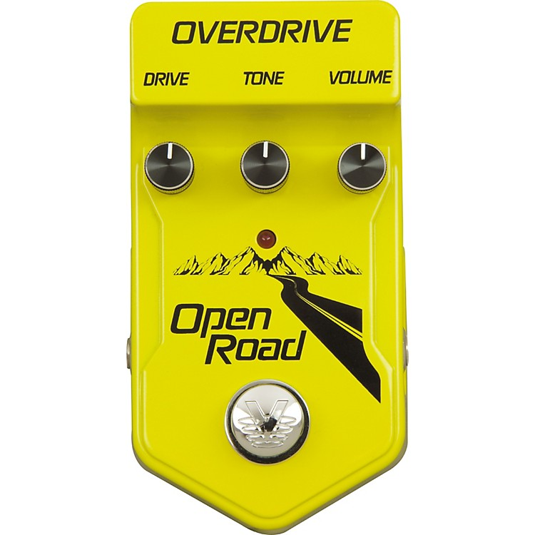 Visual Sound V2 Open Road Overdrive Guitar Effects Pedal Yellow